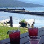 Huckleberry cocktails at Elkins resort