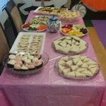 Food prepared for Camila's 4th Birthday Tea Party