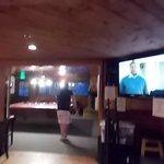 big screen TV in restaurant