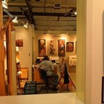 A peak inside one artist's studio. The main gallery is in the hallway that leads to studios.