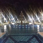 Beautiful grounds at night
