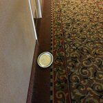This plate was in the hall the night before and still there at three pm. Why the maids could not