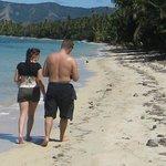 the beach at Safari Lodge at high tide