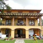 Patio of villa