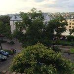 hotellet set fra borgmuren