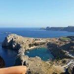 Vista della Baia dall'acropoli