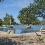 Resort private beach area