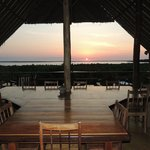 Sunset from the dining room