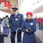 Railway staff on the Sasan train