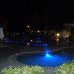 The main & baby pool at night
