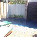 Private pool deck a little run down
