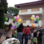 Lancio dei palloncini