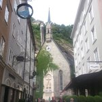 Salzburg - St. Blasius Kirche - view from Getreidegasse
