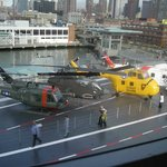 helicopters at intrepid