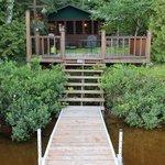 cabin, dock private swimming