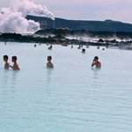 Portion of Blue Lagoon heated Geothermal Pool
