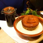 The goat cheese soufflé