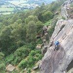 Froggatt Edge climbing