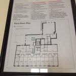 Planimetria primo piano con camere