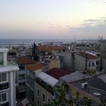 view from rooftop area towards Marmara Sea
