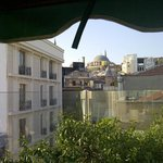 View from rooftop area to old town/grand bazaar area