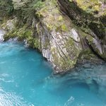 The stunning blue pools of Haast
