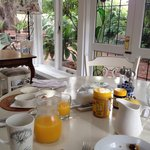 Breakfast was lovely and peaceful