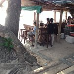 The bar at the beachfront next to the restaurant