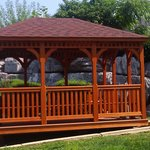 gazebo just installed at motel