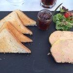 Foie gras du menu à 17€ Délicieux !