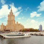 View on Radisson Royal Hotel, Moscow and Flotilla Radisson Royal