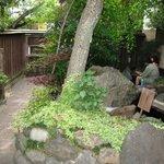 Garden and ashi-yu (foot bath)