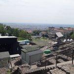 Stage set up on Roman amphitheater