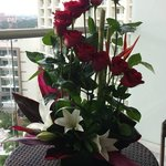 Flowers delivered to room