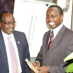 Dr. Tim Kiruhi (ELNET Coordinator) with H.E. Waithaka Mwangi, Governor of Nyandarua County