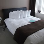 Smaller bed in business suite