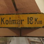 Display item: really different to see Colmar spelt as it was in the period 1940-45