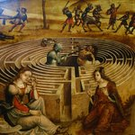 Thiseas killing the Minotaur