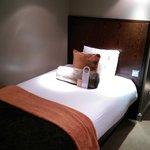 Generous single bed