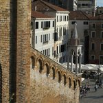 Looking from roof terrace on to Campo Santo Stefano