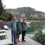View to river with us and owner Levent