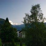 Sportkristall - view from balcony towards Kitzsteinhorn