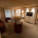 Suite mit zwei Schlafzimmern, Wohnraum und zwei Bädern