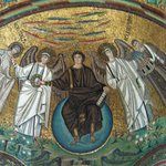 Christ with angels and San Vitale and Bishop Ecclesius