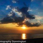 Lovely sunset over Barmouth beach