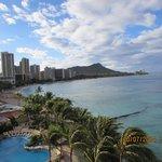 Waikiki beach with diamond head in background