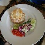 An almost 300 baht shrimp fried-rice dish