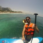 Stand Up Paddle na frente do Hotel Riu Caribe