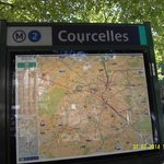 Metro line 2 Courcelles 1 minute away from hotel