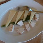 Antipasti : pecorini varii(fromages de brebis)